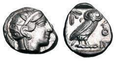 Ancient Coins - ATTICA, Athens. 449-413 BC.  AR Tetradrachm.