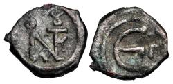 Ancient Coins - BYZANTINE EMPIRE.  Justin II, 565-578 AD.  Æ Pentanummium.