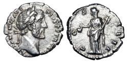 Ancient Coins - ANTONINUS PIUS, 138-161 AD.  AR Denarius.