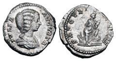 Ancient Coins - JULIA DOMNA, wife of Severus, d. 217 AD.  AR Denarius.
