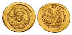 THEODOSIUS II, 408-450 AD.  Gold Solidus.