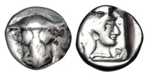Ancient Coins - PHOKAIA, Phokis.  ca. 485-480 BC.  AR Triobol.