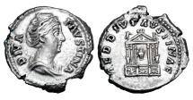 Ancient Coins - FAUSTINA SENIOR, wife of Antoninus Pius, 138-161 AD.  AR Denarius.