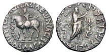 Ancient Coins - INDO-PARTHIAN.  Abdagases, c. 55-65 AD.  Billon Tetradrachm