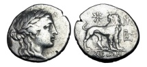Ancient Coins - IONIA, Miletos.  175-86 BC.  AR Drachm