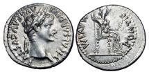 Ancient Coins - TIBERIUS, 14-37 AD.  AR Denarius.