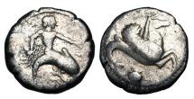 Ancient Coins - CALABRIA, Taras.  500-490 BC. AR Stater