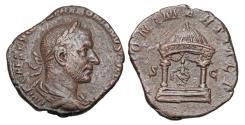 Ancient Coins - TREBONIANUS GALLUS, 251-253 AD.  Æ Sestertius.  Rare.