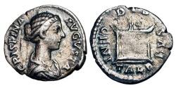 Ancient Coins - CRISPINA, wife of Commodus, 180-192 AD.  AR Denarius.