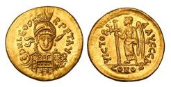 Ancient Coins - LEO I, 457-474 AD.  Gold Solidus.