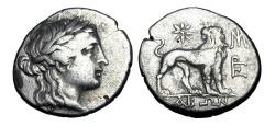 Ancient Coins - IONIA, Miletos.  175-86 BC.  AR Drachm