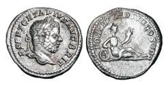 Ancient Coins - GETA, 209-212 AD.  AR Denarius.