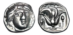 Ancient Coins - CARIA, Rhodes.  340-316 BC.  AR Didrachm.  ex Arpasi collection.