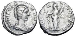 Ancient Coins - DIDIA CLARA, daughter of Didius Julianus, 193 AD. AR Denarius.