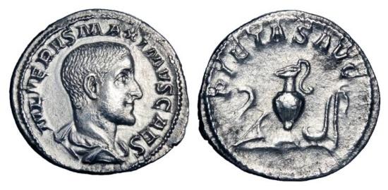 Ancient Coins - MAXIMUS, Caesar, 235-238 AD.  AR Denarius