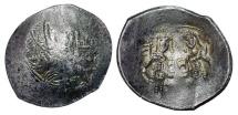 Ancient Coins - BYZANTINE EMPIRE.  Alexios III, 1195-1203 AD.  Billon Aspron Trachy.
