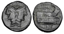 Ancient Coins - ROMAN IMPERATORIAL.  Sextus Pompey, died 35 BC.  AE As.