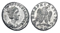 Antioch.  Herennia Etrucilla, wife of Trajan Decius, 249-251 AD.  AR Tertradrachm