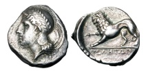 Ancient Coins - LUCANIA, Velia.  350-300 BC.  AR Stater