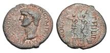 MACEDONIA, Philippi.  Claudius, 41-54 AD.  AE28.  Rare.