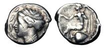 Ancient Coins - BRUTTIUM, Terina.  440-425 BC.  AR Stater