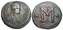 Ancient Coins - BYZANTINE EMPIRE.  Anastasios I, 491-518 AD.  ® Follis