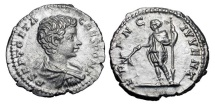Ancient Coins - GETA, 209-212 AD.  AR Denarius …