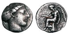 Ancient Coins - BRUTTIUM, Terina.  IV Century BC.  AR Sixth Stater.