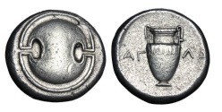 Ancient Coins - BOEOTIA, Thebes.   395-338 BC.  AR Stater