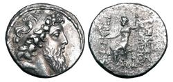 Ancient Coins - SELEUKID KINGDOM.  Demetrios II, Second Reign, 129-125 BC.  AR Tetradrachm.