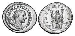 Ancient Coins - PHILIP I the ARAB, 244-249 AD.  AR Antoninianus.  ex Hoffman collection.