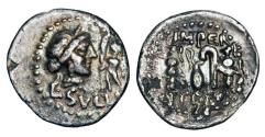 Ancient Coins - ROMAN REPUBLIC.  L. Sulla, 84-83 BC.  AR Denarius.
