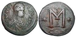 Ancient Coins - BYZANTINE EMPIRE.  Anastasios I, 491-518 AD.  Æ Follis