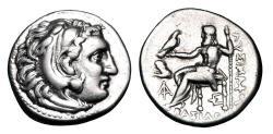 Ancient Coins - KINGDOM OF THRACE.  Lysimachos, 323-281 BC.  AR Drachm.