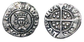 World Coins - ENGLAND.  Henry VI, 1422-1461 AD.  AR Halfpenny,   Annulet issue, London 1422-1427.  Crowned bust / Long cross with additional annulet in two angles.  N.1434. S.1848.  Toned VF+.
