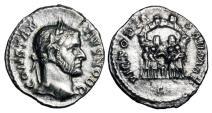 Ancient Coins - CONSTANTIUS I, 305-306 AD.   AR Argenteus.  Very Rare.