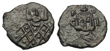 Ancient Coins - BYZANTINE EMPIRE.  Leo V the Armenian, 813-820 AD.  AE Follis