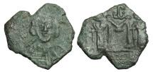 World Coins - BYZANTINE EMPIRE.  Constantine IV, 668-685 AD.  ® Follis