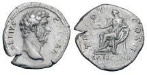Ancient Coins - AELIUS, 136-138 AD.  AR Denarius.