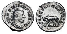 Ancient Coins - PHILIP I, 244-249 AD.  AR Antoninianus.  ex Hoffman  collection.