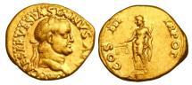 Ancient Coins - VESPASIAN, 69-79 AD.  Gold Aureus.  Rare.