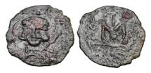 Ancient Coins - BYZANTINE EMPIRE.  Tiberios III, 698-705 AD.  Æ Follis.