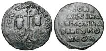 Ancient Coins - BYZANTINE EMPIRE.  Constantine VII & Zoe, 914-919 AD.  Æ Follis