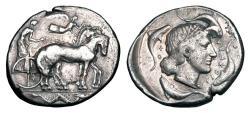 Ancient Coins - SICILY, Syracuse.  474-450 BC.  AR Tetradrachm.