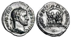World Coins - CONSTANTIUS I, 305-306 AD.   AR Argenteus.  Very Rare.