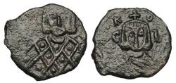 Ancient Coins - BYZANTINE EMPIRE.  Leo V the Armenian, 813-820 AD.  AE Follis