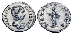Ancient Coins - JULIA DOMNA, wife of  Septimius Severus, d. 217 AD.  AR Denarius.   ex. John Roberts-Lewis collection.