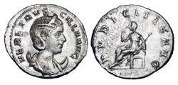 Ancient Coins - HERENNIA ETRUSCILLA, wife of Decius, 249-251 AD.  AR Antoninianus.