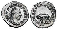 Ancient Coins - PHILIP I, 244-249 AD.  AR Antoninianus.  ex Hoffman  collection.