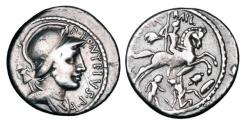 Ancient Coins - ROMAN REPUBLIC.  P. Fonteius P.f. Capito, 55 BC.  AR Denarius.  ex Simon T. collection.